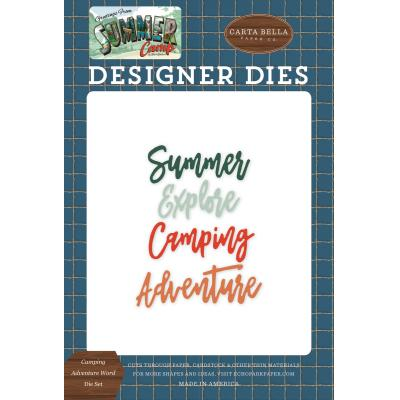 Carta Bella Summer Camp Word Die Set - Camping Adventure