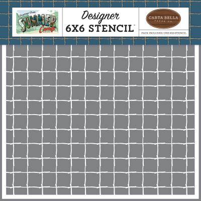 Carta Bella Summer Camp Stencil -  Stick Grid