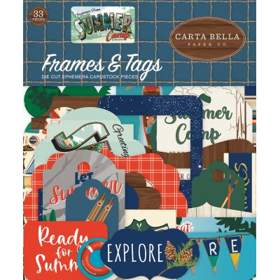 Carta Bella Summer Camp Die Cuts - Frames & Tags