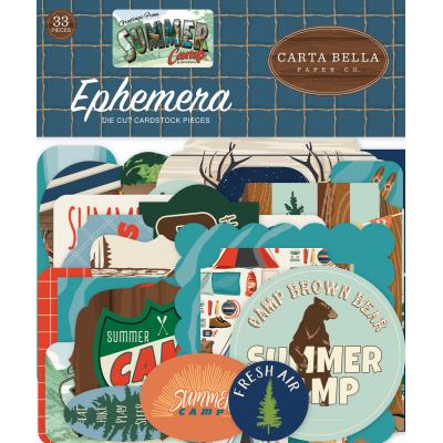 Carta Bella Summer Camp Die Cuts - Ephemera