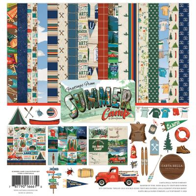 Carta Bella Summer Camp Designpapier - Collection Kit