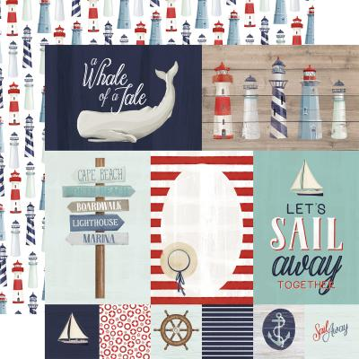 Carta Bella By The Sea Designpapier - Journaling Cards
