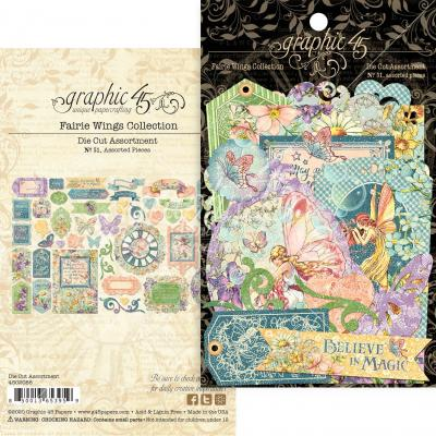 Graphic 45 Fairie Wings - Die Cut Assortment