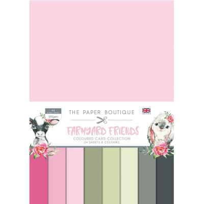 The Paper Boutique Farmyard Friends Cardstock - Coloured Card Collection