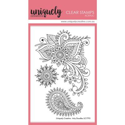 Uniquely Creative Clear Stamps - Arty Doodles