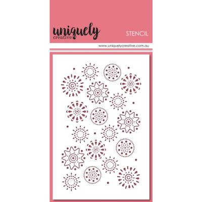 Uniquely Creative Stencil - Arty Elements