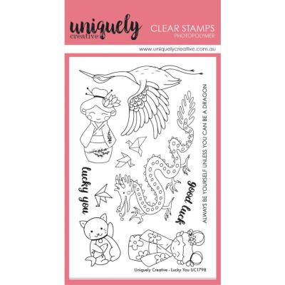 Uniquely Creative Clear Stamps - Lucky You