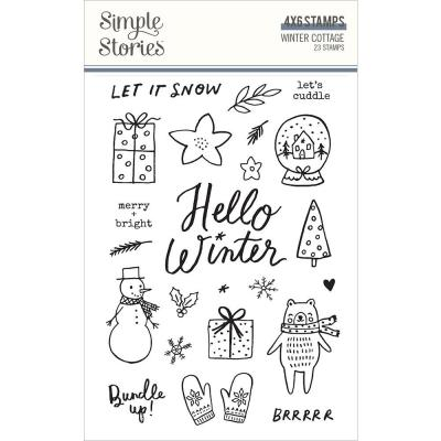 Simple Stories Winter Cottage Clear Stamps - Winter Cottage