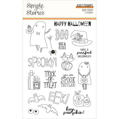 Simple Stories Clear Stamps - Boo Crew