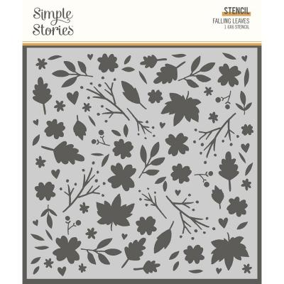 Simple Stories Cozy Days Stencil - Falling Leaves