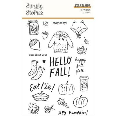 Simple Stories Cozy Days Clear Stamps - Cozy Days