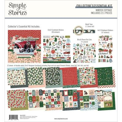 Simple Stories Winter Cottage Designpapier - Collector's Essential Kit