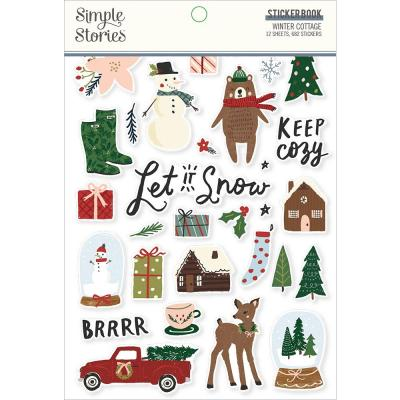 Simple Stories Winter Cottage - Sticker Book