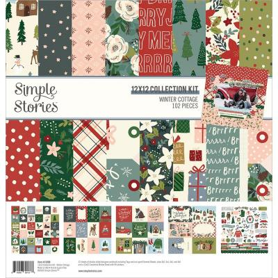 Simple Stories Winter Cottage Designpapier - Collection Kit