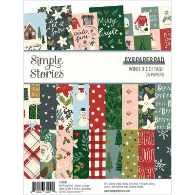 Simple Stories Winter Cottage Designpapier - Paper Pad