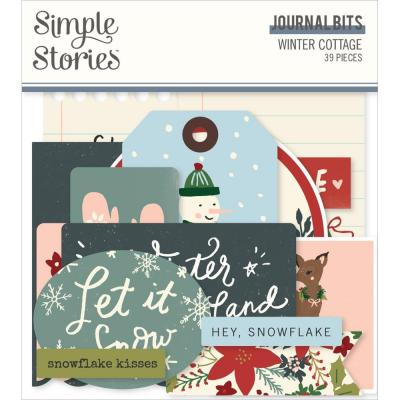 Simple Stories Winter Cottage Die Cuts - Bits & Pieces