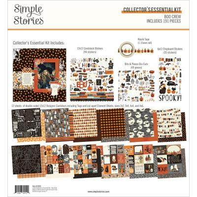 Simple Stories Boo Crew Designpapier - Collector's Essential Kit