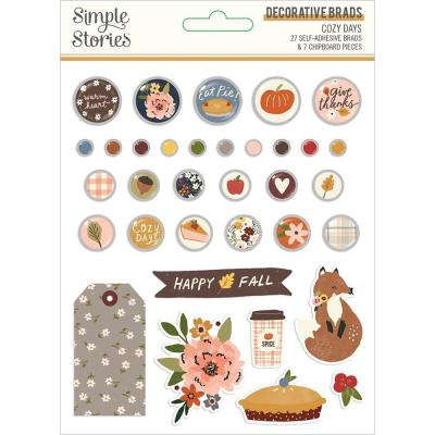 Simple Stories Cozy Days Embellishments - Decorative Brads