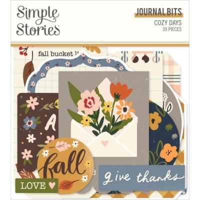 Simple Stories Cozy Days Die Cuts - Bits & Pieces