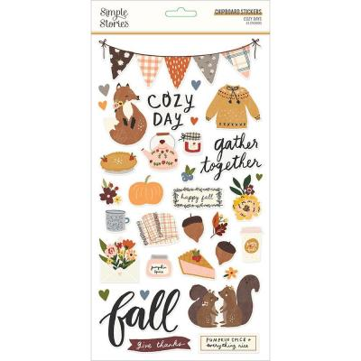 Simple Stories Cozy Days Sticker - Chipboard