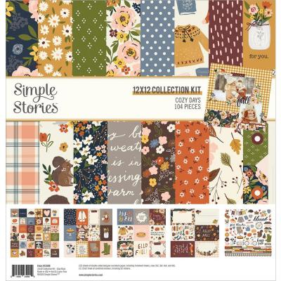 Simple Stories Cozy Days Designpapier - Collection Kit