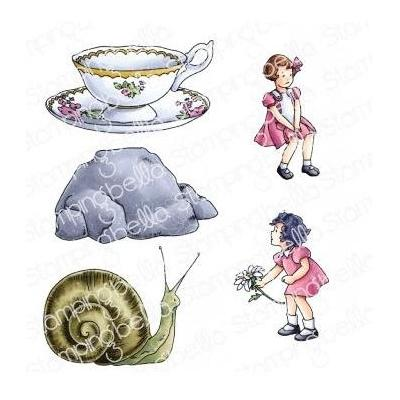Stamping Bella Cling Stamps - Edgar And Molly Vintage Snail Set