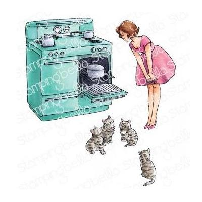 Stamping Bella Cling Stamps - Edgar And Molly Vintage Here Kitty Set