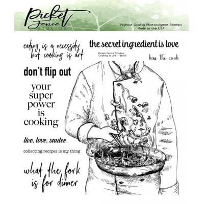Picket Fence Studios Clear Stamps - Cooking is Art