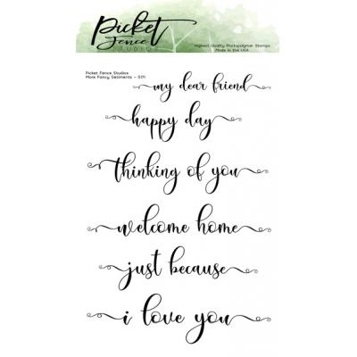 Picket Fence Studios Clear Stamps - More Fancy Sentiments