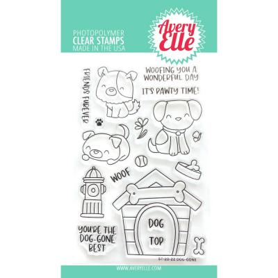 Avery Elle Clear Stamps - Dog-Gone