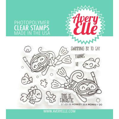 Avery Elle Clear Stamps - Monkey Sea Monkey Do