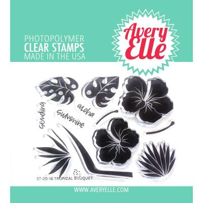 Avery Elle Clear Stamps - Tropical Bouquet
