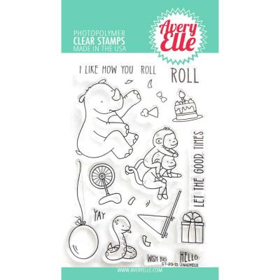 Avery Elle Clear Stamps - Unicycle