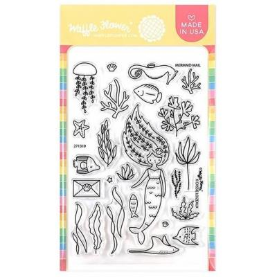 Waffle Flower Crafts Clear Stamps - Mermaid Mail