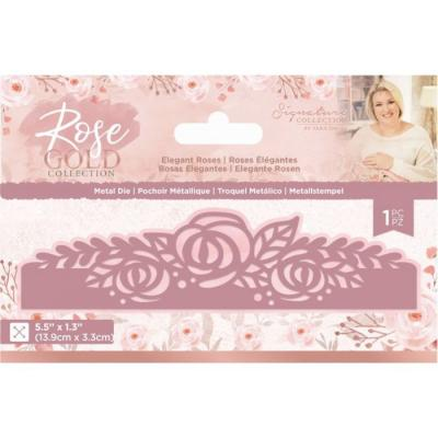 Crafter's Companion Rose Gold Die - Elegant Roses