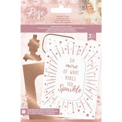 Crafter's Companion Rose Gold Foil Stamp 'N' Cut Die Hotfoil Stamp - Sparkle Frame