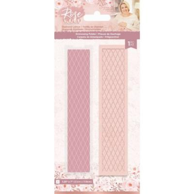Crafter's Companion Rose Gold Embossingfolder - Diamond Lattice