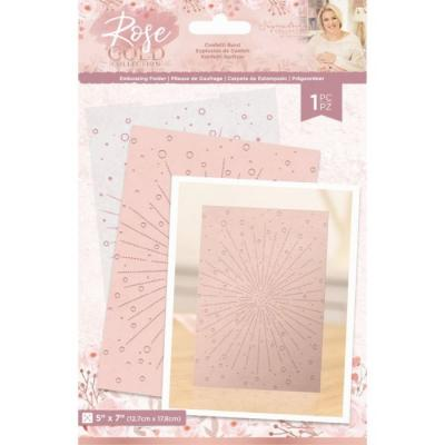 Crafter's Companion Rose Gold Embossingfolder - Confetti Burst