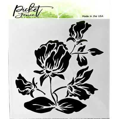 Picket Fence Studios Stencil - Shading Flower