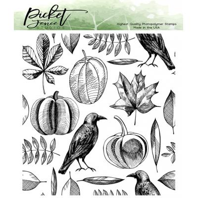 Picket Fence Studios Clear Stamp - Autumn Harvest Collage
