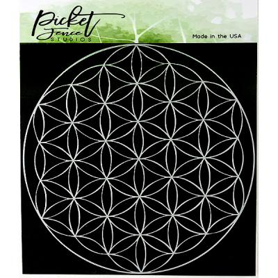 Picket Fence Studios Stencil - Flower of Life