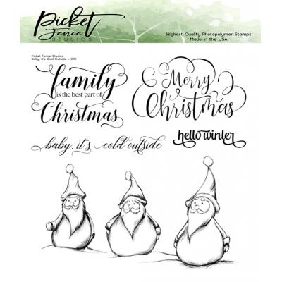 Picket Fence Studios Clear Stamps - Baby, It's Cold Outside