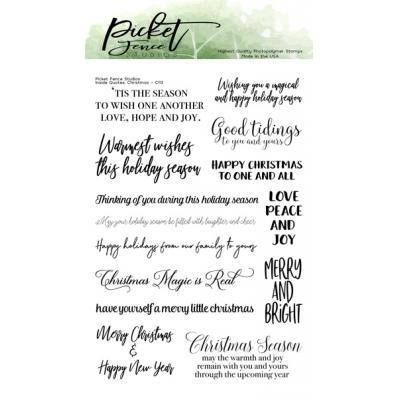 Picket Fence Studios Clear Stamps - Inside Quotes: Christmas