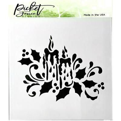 Picket Fence Studios Stencil - Candlelight