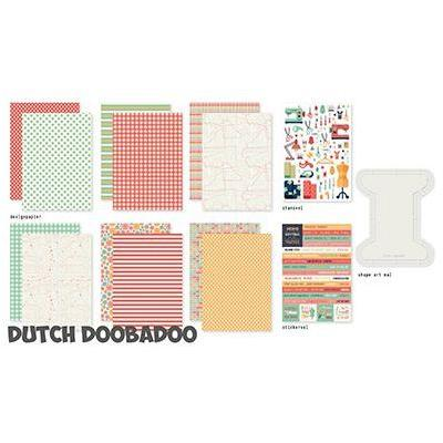 Dutch DooBaDoo Designpapier - One More Stitch