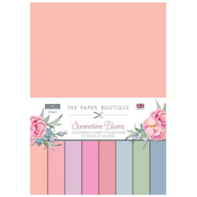The Paper Boutique Summertime Blooms Cardstock - Coloured Card Collection
