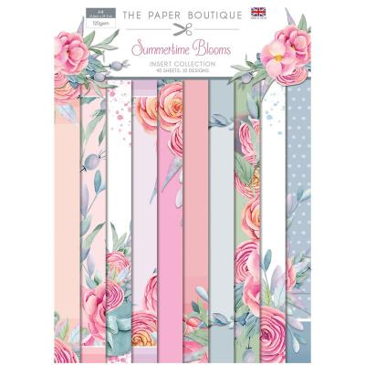 The Paper Boutique Summertime Blooms Designpapier - Insert Collection