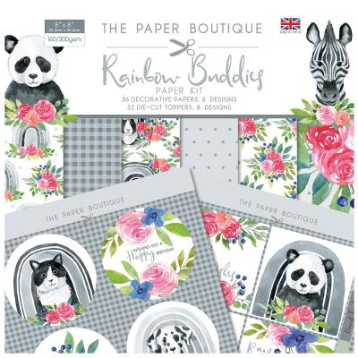 The Paper Boutique Rainbow Buddies Designpapier  - Paper Kit