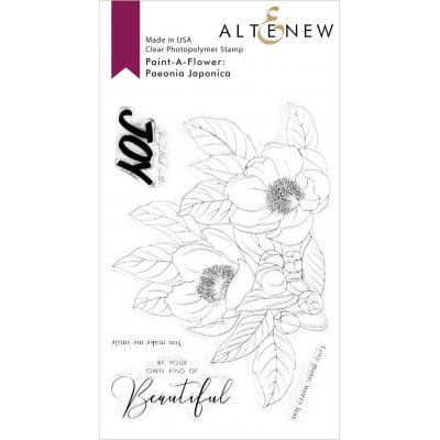 Altenew Clear Stamps - Paint-A-Flower Paeonia Japonica