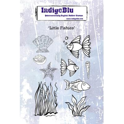 IndigoBlu Rubber Stamps - Little Fishies